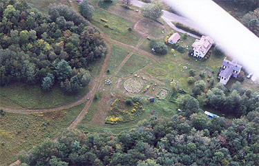 Aerial shot of the front acres.
