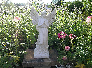 An angel in one of the gardens.
